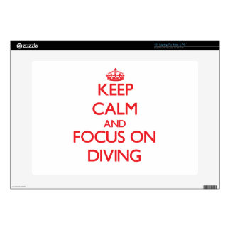 Keep Calm and focus on Diving Laptop Skin