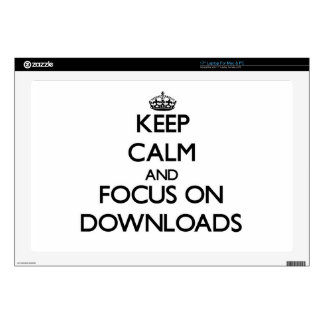 Keep Calm and focus on Downloads Decal For Laptop