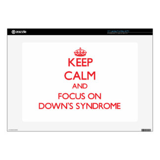 "Keep Calm and focus on Down's Syndrome 15"" Laptop Decals"