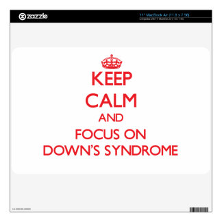 Keep Calm and focus on Down's Syndrome MacBook Air Decals
