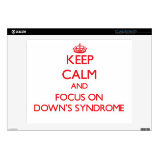 "Keep Calm and focus on Down's Syndrome 14"" Laptop Decals"