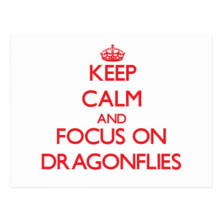 Keep Calm and focus on Dragonflies Postcards