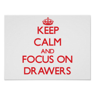 Keep Calm and focus on Drawers Posters