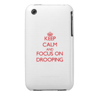 Keep Calm and focus on Drooping iPhone 3 Case