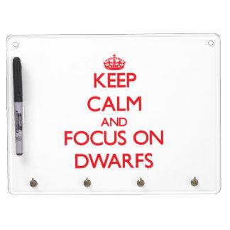 Keep Calm and focus on Dwarfs Dry Erase Board