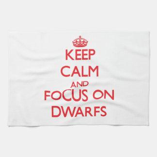 Keep Calm and focus on Dwarfs Towel