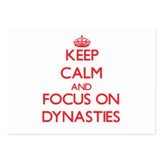 Keep Calm and focus on Dynasties Business Card Template