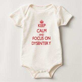 Keep Calm and focus on Dysentery Baby Bodysuit