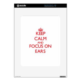 Keep Calm and focus on EARS iPad Decals
