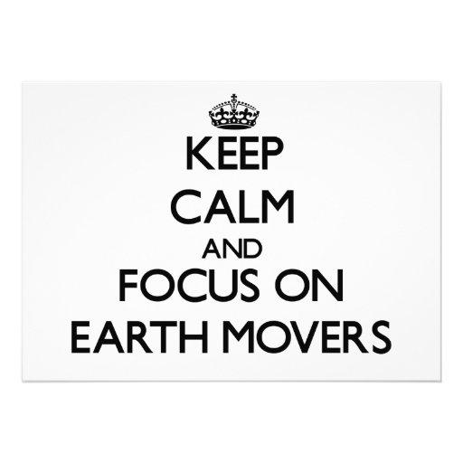 Keep Calm and focus on EARTH MOVERS Custom Invitation