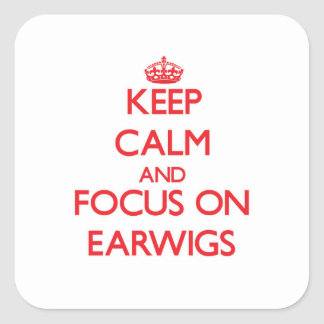 Keep Calm and focus on Earwigs Sticker
