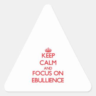 Keep Calm and focus on EBULLIENCE Sticker