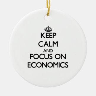 Keep Calm and focus on ECONOMICS Ornament