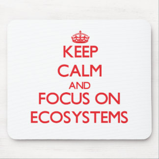 Keep Calm and focus on ECOSYSTEMS Mousepads