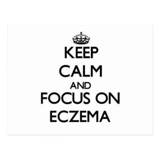 Keep Calm and focus on ECZEMA Postcard