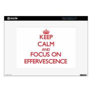 Keep Calm and focus on EFFERVESCENCE Netbook Decals