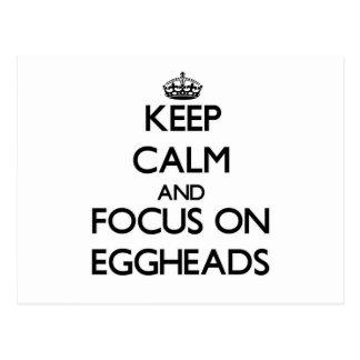 Keep Calm and focus on EGGHEADS Postcard