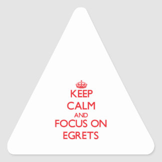 Keep calm and focus on Egrets Triangle Sticker