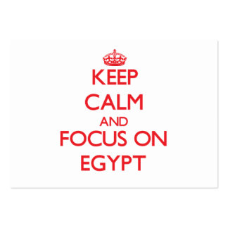 Keep Calm and focus on EGYPT Business Card Template