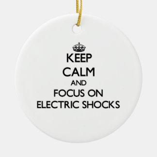 Keep Calm and focus on ELECTRIC SHOCKS Christmas Tree Ornament