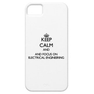 Keep calm and focus on Electrical Engineering iPhone 5 Cases