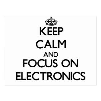 Keep calm and focus on Electronics Postcard