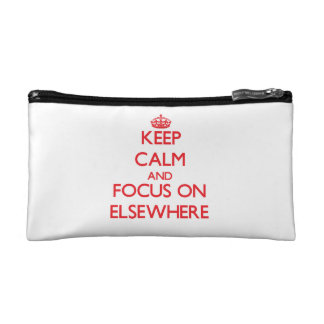 Keep Calm and focus on ELSEWHERE Makeup Bags