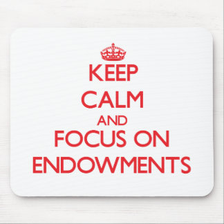 Keep Calm and focus on ENDOWMENTS Mouse Pad