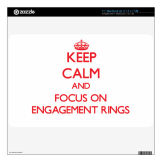 Keep Calm and focus on ENGAGEMENT RINGS Skin For MacBook