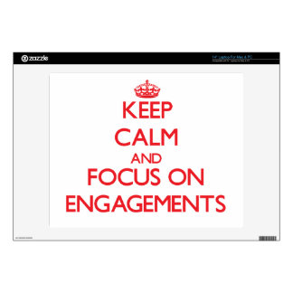 """Keep Calm and focus on ENGAGEMENTS 14"""" Laptop Skins"""
