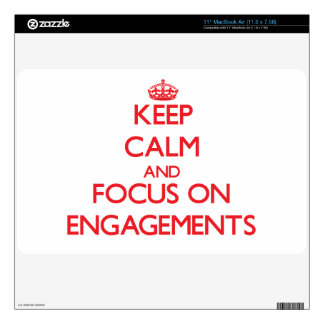 Keep Calm and focus on ENGAGEMENTS MacBook Decals
