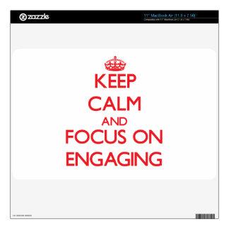 Keep Calm and focus on ENGAGING MacBook Air Skin
