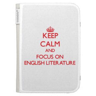Keep Calm and focus on ENGLISH LITERATURE Kindle Folio Cases