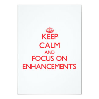 Keep Calm and focus on ENHANCEMENTS Personalized Invitation