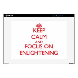 Keep Calm and focus on ENLIGHTENING Laptop Skin