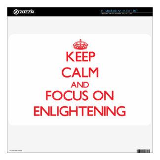 Keep Calm and focus on ENLIGHTENING MacBook Air Decals