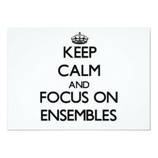 Keep Calm and focus on ENSEMBLES 5x7 Paper Invitation Card