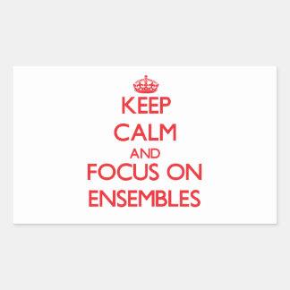 Keep Calm and focus on ENSEMBLES Rectangular Sticker
