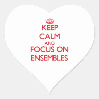 Keep Calm and focus on ENSEMBLES Heart Sticker