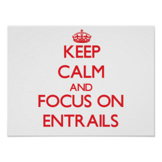 Keep Calm and focus on ENTRAILS Print