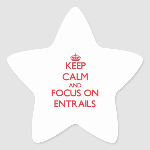 Keep Calm and focus on ENTRAILS Star Stickers