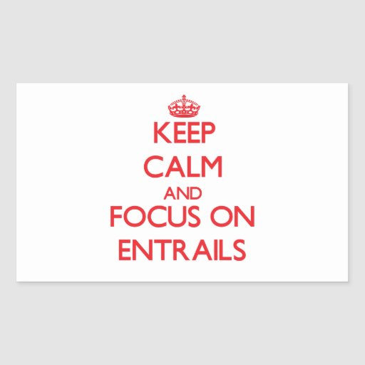 Keep Calm and focus on ENTRAILS Rectangle Sticker