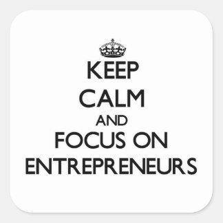 Keep Calm and focus on ENTREPRENEURS Sticker