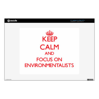 Keep Calm and focus on ENVIRONMENTALISTS Laptop Decal