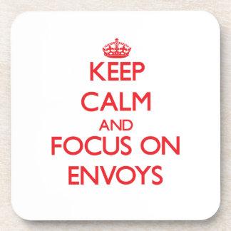 Keep Calm and focus on ENVOYS Drink Coaster
