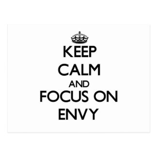 Keep Calm and focus on ENVY Post Cards