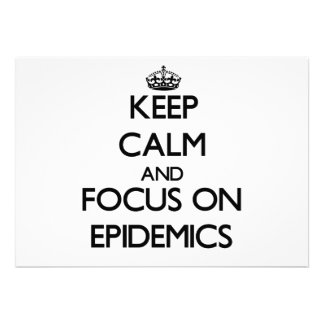 Keep Calm and focus on EPIDEMICS Announcements