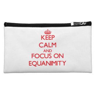 Keep Calm and focus on EQUANIMITY Cosmetic Bag