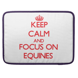 Keep Calm and focus on EQUINES Sleeve For MacBook Pro