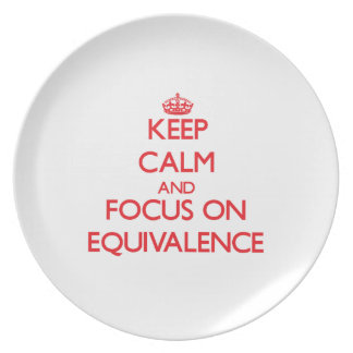 Keep Calm and focus on EQUIVALENCE Party Plate